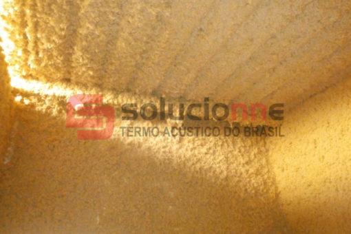 Drywall com Isolamento Acústico e Jateamento Termo-Acústico na Cor Amarela