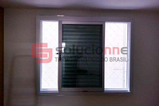 Janela Acústica de Correr Sobreposta no Bairro Serra em Belo Horizonte