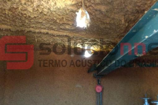 Jateamento Acústico de Fibrocelulose / Solufibra na Cor Amarela Vila Castela