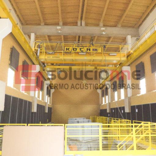 Jateamento Termo-Acústico na Cor Amarela, Painéis de Absorção Sonora Samarco