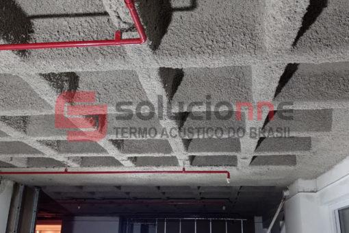 Jateamento Termo-Acústico Solufibra de Cor Grafite Banco Santander
